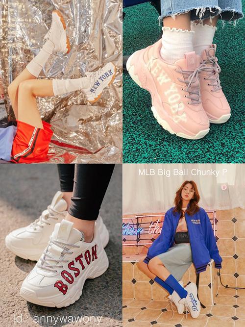 trên thân giày có đĩnh chữ hoặc đính logo tên của các thành phố nổi tiếng thế giới như New York, Boston và cả tên của cầu thủ và đội tuyển bóng chày nổi tiếng.