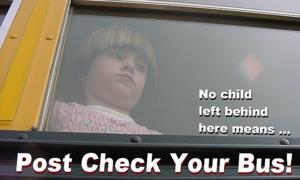 Hệ thống báo động trẻ em bị bỏ quên trên xe bus ở nước ngoài
