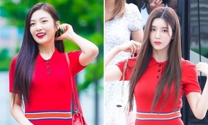 Joy và Eun Bi đọ nhan sắc đỉnh cao khi 'đụng hàng'