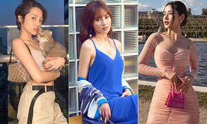 Street style sao Việt tuần qua ngập tràn váy áo 'điệu nhưng không sến'