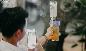 Bia úp ngược - đồ uống mới hút giới trẻ Hà thành