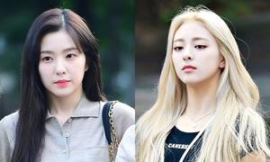 Irene đọ visual cùng Yuna trên đường đến Music Bank