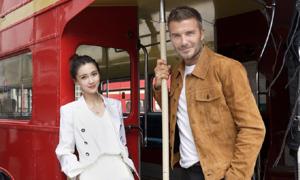 Angelababy đi ăn cùng David Beckham