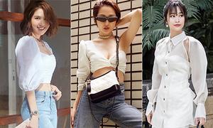 Street style tuần qua: Sao Việt mix đa phong cách với sắc trắng