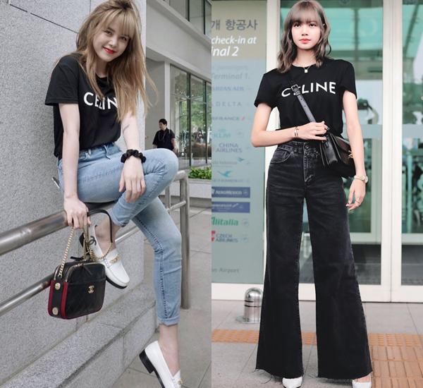 Chiếc áo Celine giá 540 USD, khoảng 12,5 triệu đồng cũng đồng thời nằm trong tủ đồ của Thiều Bảo Trâm lẫn mỹ nhân Thái Lan Lisa. Ngay khi nữ idol sinh năm 1997 tỏa sáng tại sân bay Incheon vào tháng 6 với item của nhà mốt Pháp, thì giọng ca