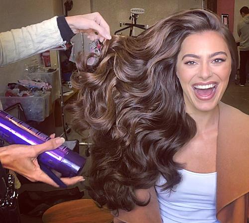Mái tóc của người mẫu sau khi tạo kiểu.