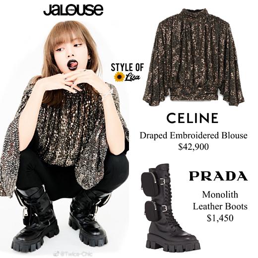 Nữ idol Thái Lanvác nguyên cây hàng hiệu tỷ đồng trong shoot ảnh cá nhân: áo xếp ly Celine 42.000 USD (khoảng 970 triệu VNĐ), boots Prada 1.450 USD (33 triệu VNĐ).