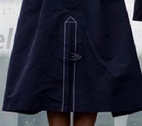 Cận cảnh đường chỉ thêu gây chỉ trích trên váy của bà Melania.