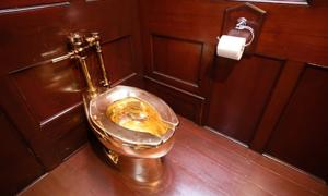 Toilet dát vàng trong cung điện Anh bị đánh cắp