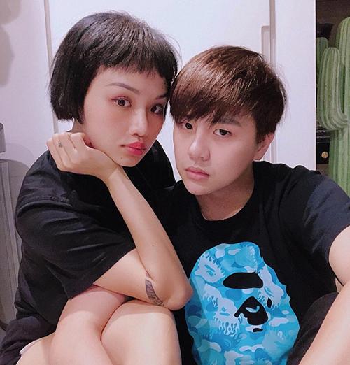 Miu Lê và Duy Khánh tung hình kiểu sinh đôi.