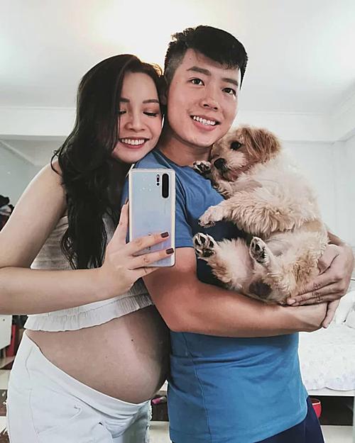 Nàng beauty blogger được khen ngợi khi mang bầu vẫn giữ nhan sắc xinh đẹp.