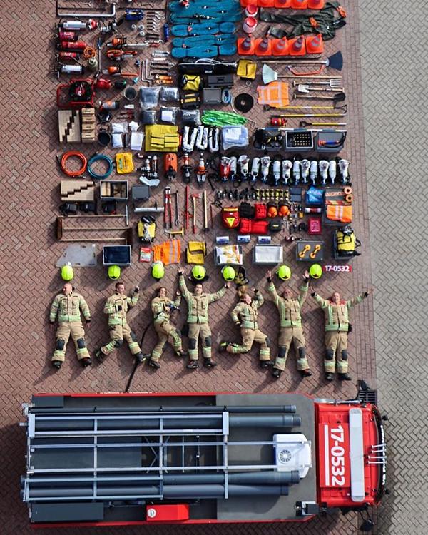 Lính cứu hỏa từ Kazerne Rotterdam-Frobenstraat, Hà Lan.