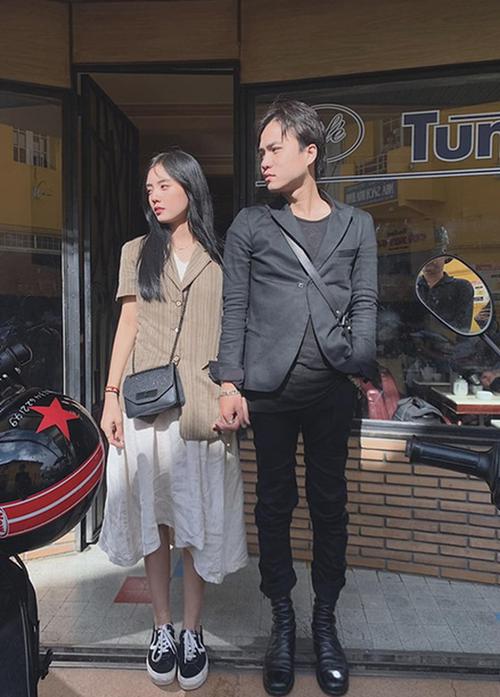Lâm Á Hân và bạn trai mới.