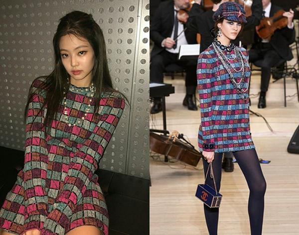 Ở Jennie thường toát lên vẻ sexy nhưng cũng rất ngọt ngào, nhẹ nhàng hơn hẳn so với người mẫu trên sàn diễn Chanel.