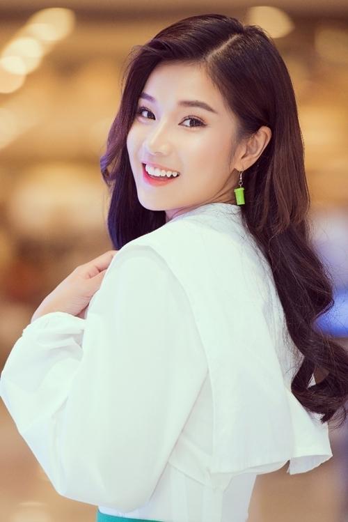 Hoàng Yến Chibi cười rạng rỡ tại sự kiện. Ảnh: Quang Đức