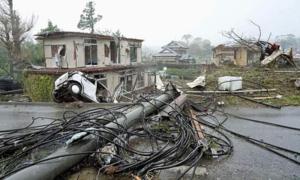 Hiện trường đổ nát khi siêu bão Hagibis càn quét tỉnh Chiba