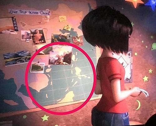 Hình ảnh đường lưỡi bò xuất hiện trong phim.